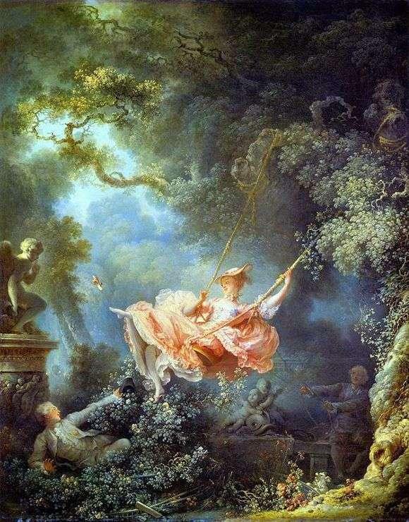 Описание картины Жана Оноре Фрагонара «Качели»