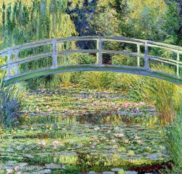 Описание картины Клода Моне «Японский мостик» (Пруд с водяными лилиями)