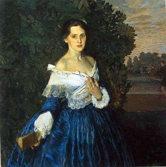 Описание картины Константина Сомова «Дама в голубом»