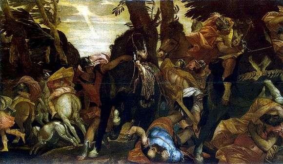 Описание картины Паоло Веронезе «Обращение Савла»