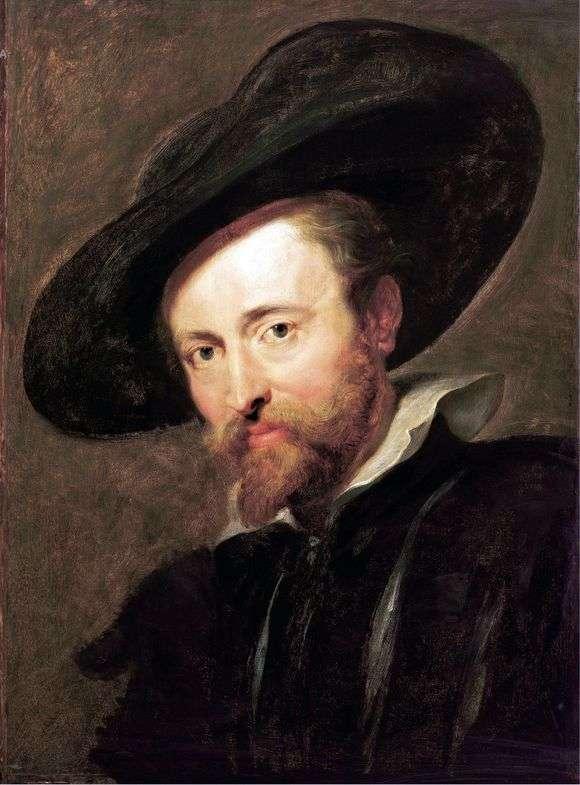 Описание картины Питера Рубенса «Автопортрет»