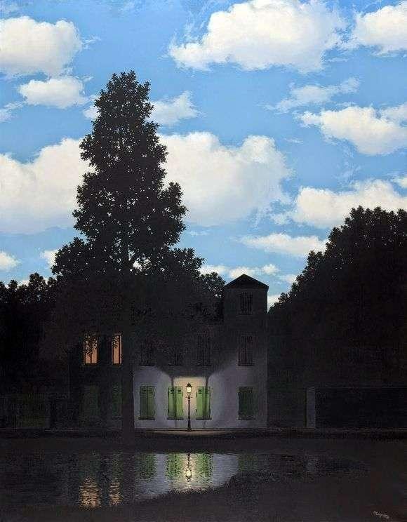 Описание картины Рене Магритта «Империя Света»