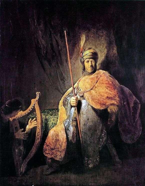 Описание картины Рембрандта Харменса ван Рейна «Саул и Давид»