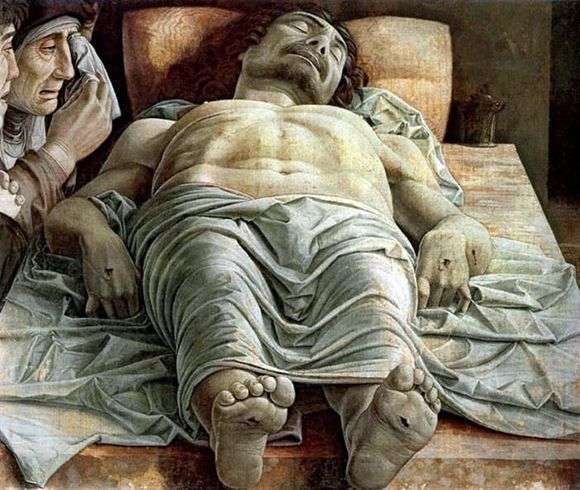 Описание картины Андреа Мантенья «Мертвый Христос»