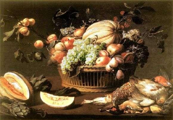 Описание картины Франса Снейдерса «Натюрморт с фруктами»