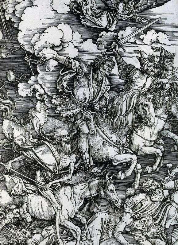 Описание гравюры Альбрехта Дюрера «Четыре всадника Апокалипсиса»