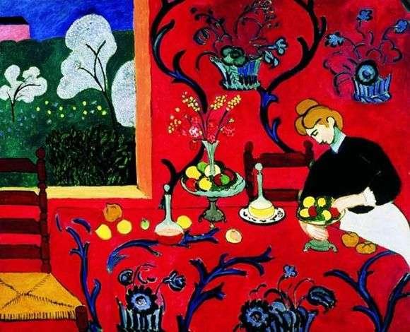 Описание картины Анри Матисса «Красная комната»