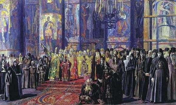 Описание картины Павла Корина «Русь уходящая»