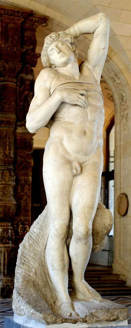 Описание скульптуры Микеланджело Буанарроти «Умирающий раб»