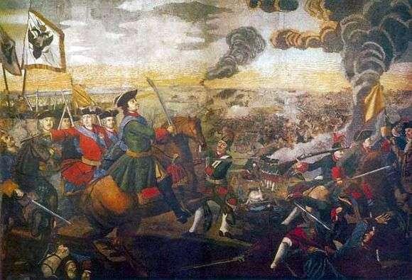 Описание картины Михаила Ломоносова «Полтавская баталия»