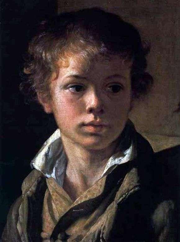 Описание картины Василия Тропинина «Портрет сына художника, Арсения»