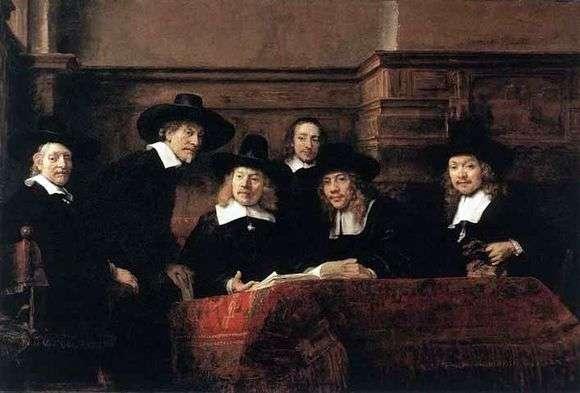 Описание картины Рембрандта Харменса ван Рейна «Синдики»