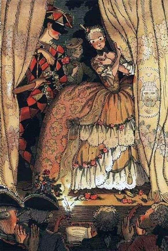 Описание картины Константина Сомова «Книга маркизы»