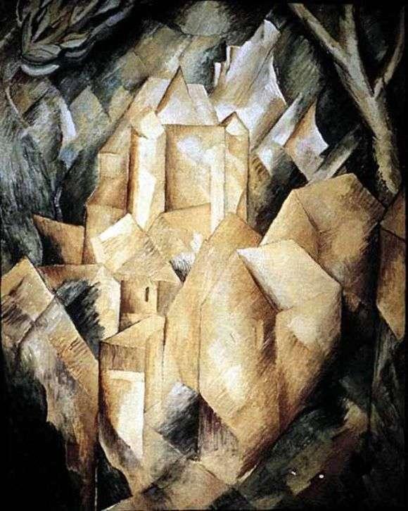Описание картины Жоржа Брака «Дом в Эстаке»