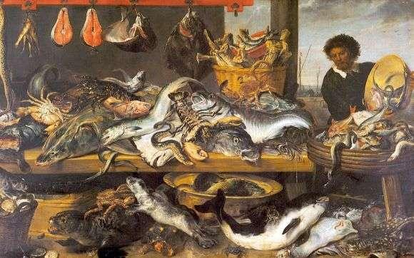 Описание картины Франса Снейдерса «Рыбная лавка»