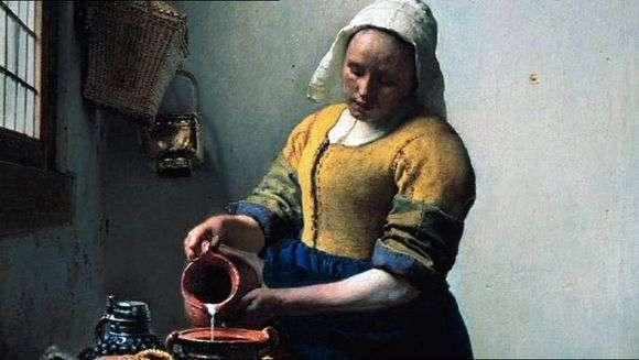 Описание картины Яна Вермеера «Молочница»