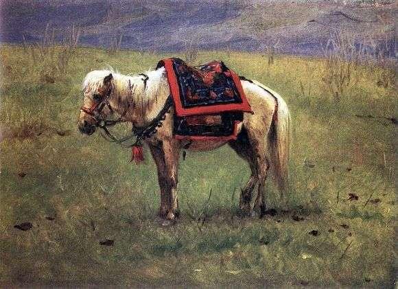 Описание картины Василия Верещагина «Гималайский пони»