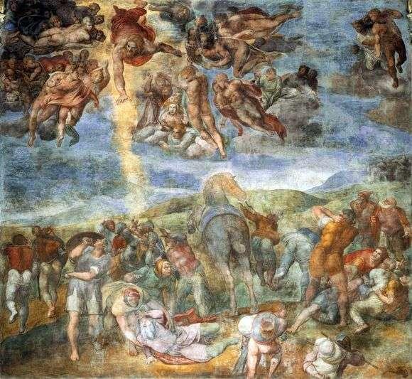 Описание картины Микеланджело Буанарроти «Обращение Савла»