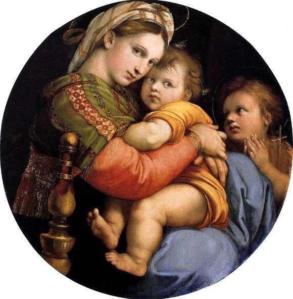 Описание картины Рафаэля Санти «Мадонна в кресле»
