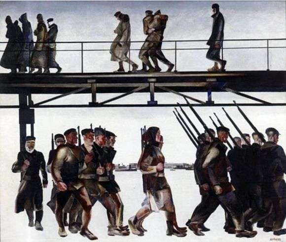 Описание картины Александра Дейнека «Оборона Петрограда»