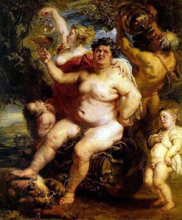 Описание картины Питера Рубенса «Вакх»