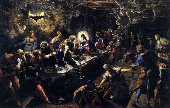 Описание картины Якопо Тинторетто «Тайная вечеря»
