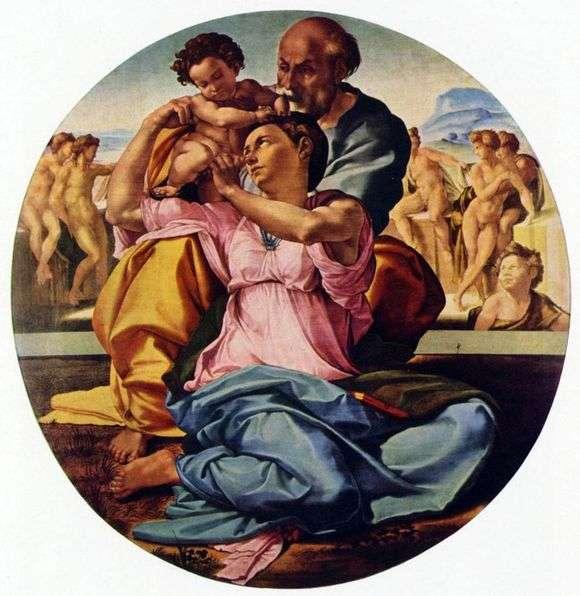 Описание картины Микеланджело Буанарроти «Святое семейство»