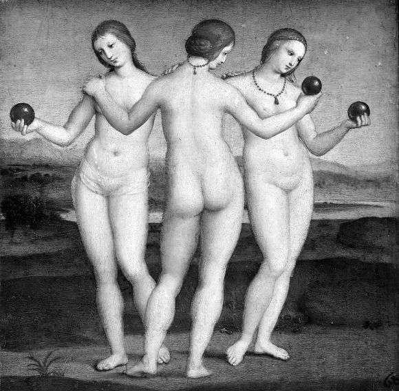 Описание картины Рафаэля Санти «Три грации»