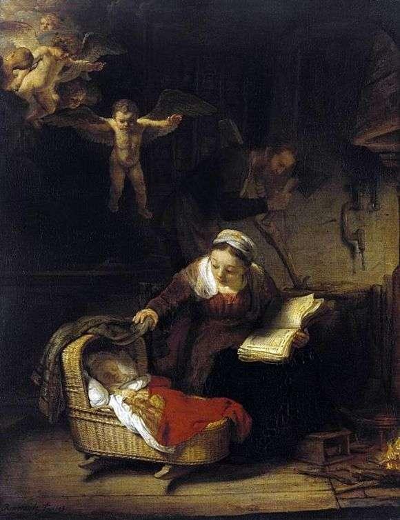 Описание картины Рембрандта Харменса ван Рейна «Святое семейство»