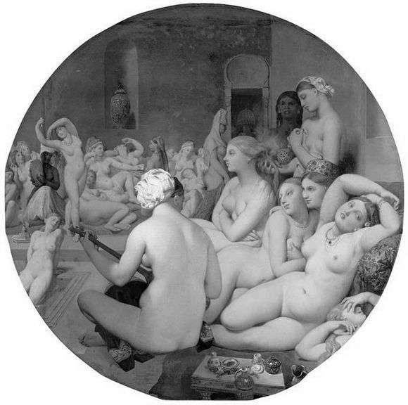 Описание картины Жана Огюста Энгра «Турецкая баня»