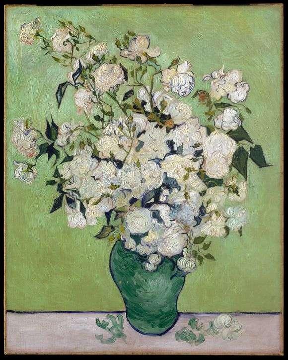 Описание картины Винсента Ван Гога «Белые розы»