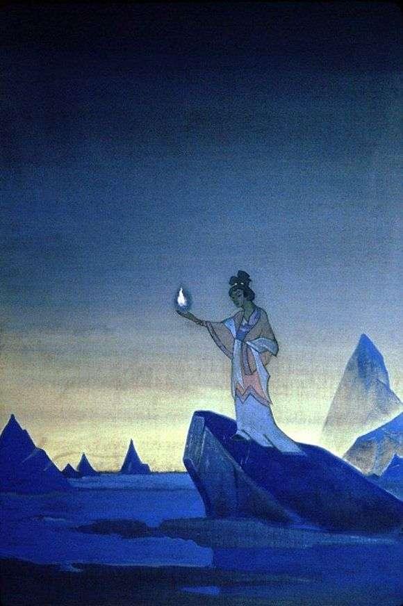 Описание картины Николая Рериха «Агни Йога»