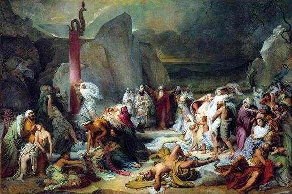 Описание картины Федора Бруни «Медный змий»