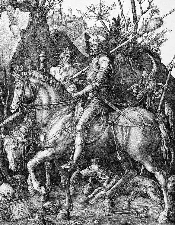 Картинки по запросу гравюра рыцарь смерть и дьявол картинки