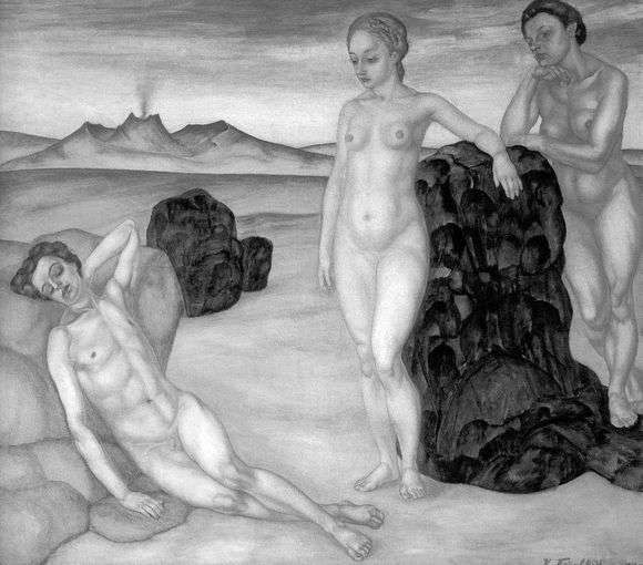Описание картины Кузьмы Петрова Водкина «Сон»
