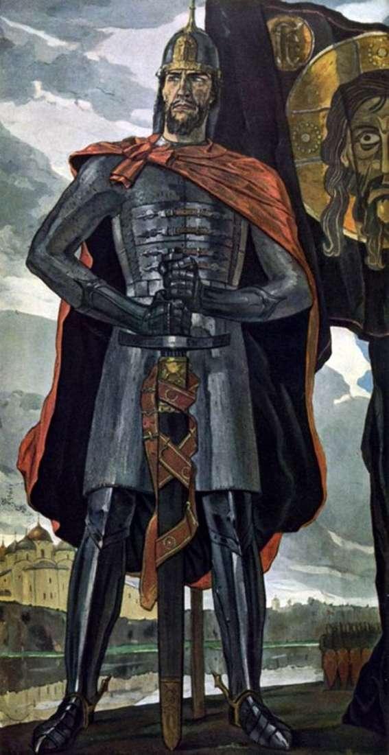 Описание картины Павла Корина «Александр Невский»