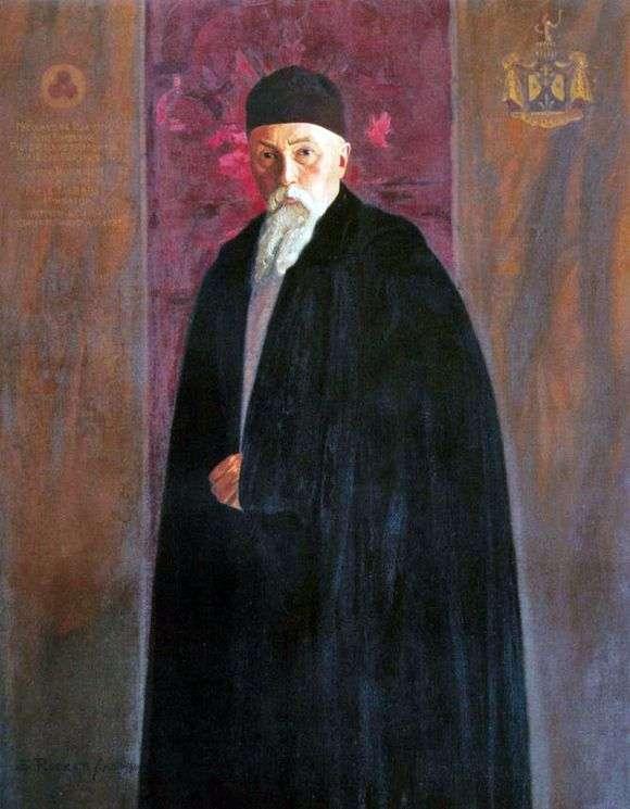 Описание картины Святослава Рериха «Портрет Николая Рериха»