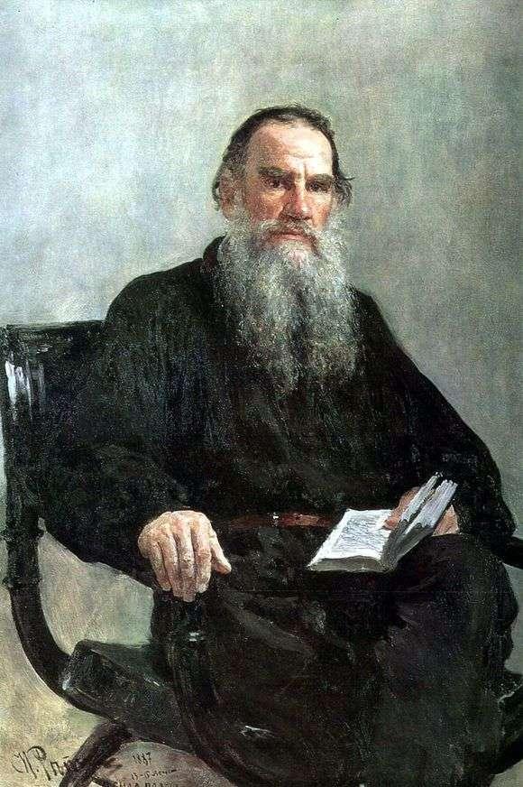 Описание картины Ильи Репина «Портрет Толстого»