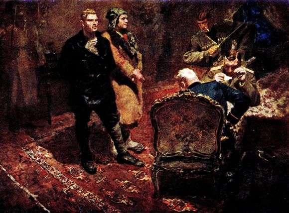 Описание картины Бориса Иогансона «Допрос коммунистов»