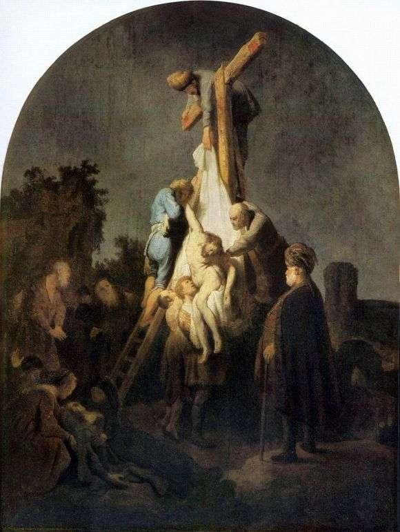 Описание картины Рембрандта Харменса ван Рейна «Снятие с креста»