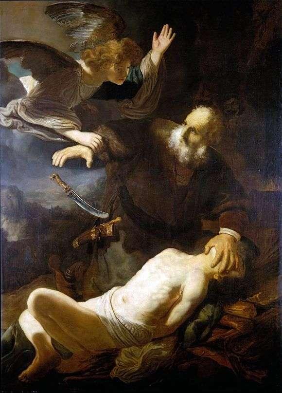 Описание картины Рембрандта Харменса ван Рейна «Жертвоприношение Авраама»