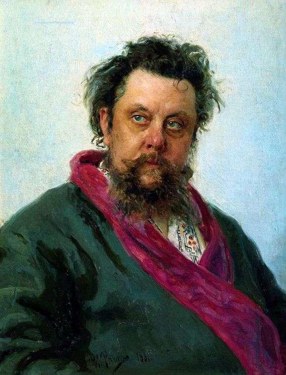 Описание картины Ильи Репина «Портрет Мусоргского»