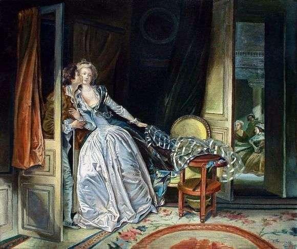 Описание картины Жана Оноре Фрагонара «Поцелуй украдкой»