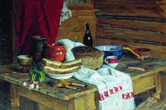 Описание картины Владимира Стожарова «Натюрморт с хлебом»