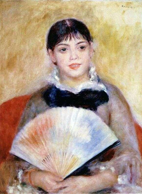 Описание картины Пьера Огюста Ренуара «Девушка с веером»