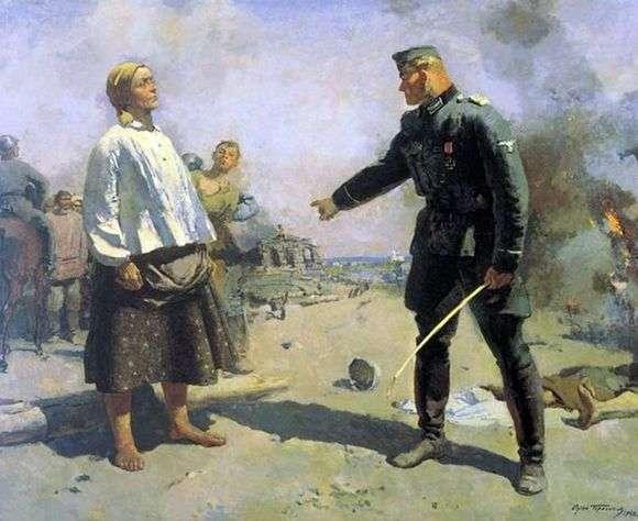 Описание картины Сергея Герасимова «Мать партизана»