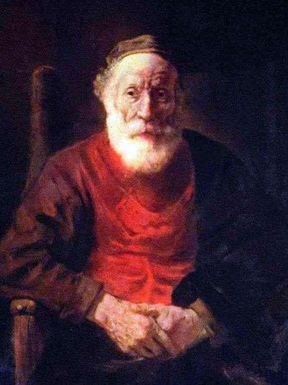 Описание картины Рембрандта Харменса ван Рейна «Портрет старика в красном»