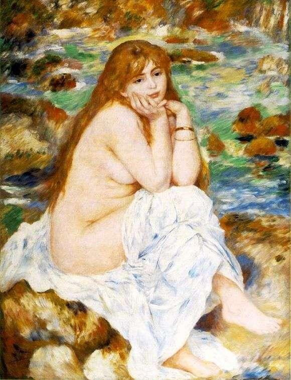 Описание картины Пьера Огюста Ренуара «Сидящая купальщица»