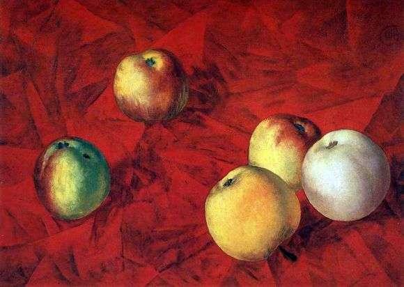 Описание картины Кузьмы Петрова Водкина «Яблоки»