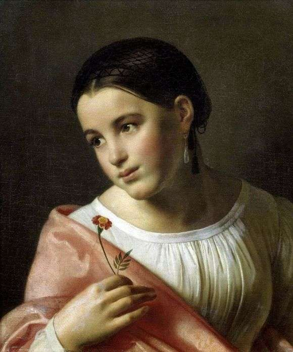 Описание картины Ореста Кипренского «Бедная Лиза»